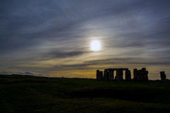 Stonehenge. Silhouette of Stonehenge, located at Wiltshire, England. One of the UNESCO World Heritage sites Royalty Free Stock Photos