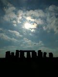Stonehenge in Silhouette royalty free stock photos