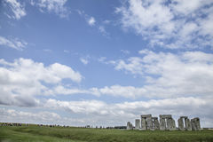 Stonehenge - the skies. This image shows Stonehenge is a prehistoric monument in Wiltshire, England, 2 miles west of Amesbury and 8 miles north of Salisbury. It royalty free stock photo