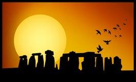 Stonehenge skymning Fotografering för Bildbyråer