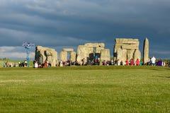 Stonehenge sommarsolstånd 2018 arkivfoto