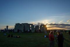 Stonehenge sommarsolstånd 2018 fotografering för bildbyråer