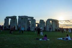 Stonehenge sommarsolstånd 2018 royaltyfria foton