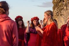 Stonehenge sommarsolstånd 2018 royaltyfria bilder