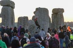 Stonehenge sommarsolstånd 2018 arkivbilder