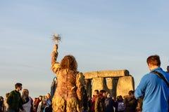 Stonehenge sommarsolstånd 2018 royaltyfri foto