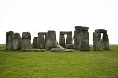 Stonehenge standing stones ruins wiltshire england uk. Ruins of Prehistoric standing stone circle of stonehenge on salisbury plain wiltshire england uk Royalty Free Stock Photos