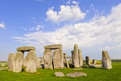 Stonehenge Stone Circle, Wiltshire, England. The famous Stonehenge megalithic monument in Wiltshire, England, on a fine spring evening royalty free stock photos