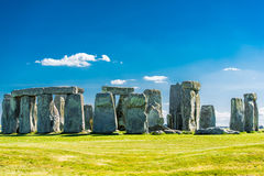 Stonehenge. Historical monument in England. UK, during a warm summer day with a blue sky Stock Photos