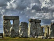 Stonehenge with stormy sky Stock Photo