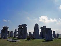 Stonehenge su una mattina di fine dell'estate fotografia stock