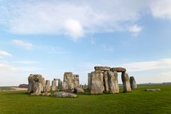 Stonehenge. On a sunny day in spring royalty free stock images