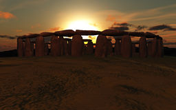Stonehenge Sunset Royalty Free Stock Photography