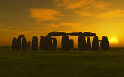 Stonehenge Sunset Stock Image