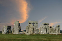 Stonehenge at sunset Stock Photography