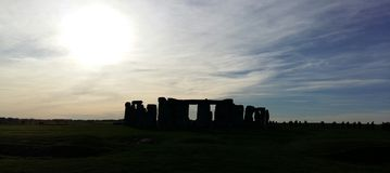 Stonehenge. Sunset beyond Stonehenge in November stock photos