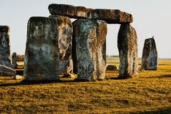 Stonehenge. Sunset Stonehenge  classic Royalty Free Stock Photos