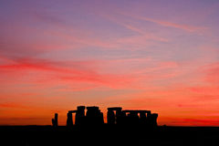 Stonehenge sunset Royalty Free Stock Images