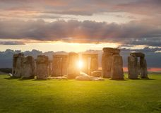 Stonehenge. At sunset, Wiltshire, England Royalty Free Stock Photo