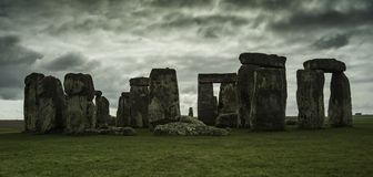 Stonehenge on a quiet and cloudy day stock photo