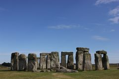 Stonehenge. Taken at Stonehenge in Wiltshire, England stock photo