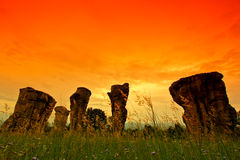 Stonehenge of Thailand Stock Photo