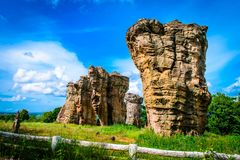 Stonehenge of Thailand Mo Hin khao. At Chaiyaphum province Thailand royalty free stock images