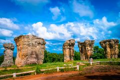 Stonehenge of Thailand Mo Hin khao. At Chaiyaphum province Thailand stock photo