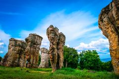 Stonehenge of Thailand Mo Hin khao. At Chaiyaphum province Thailand royalty free stock photo