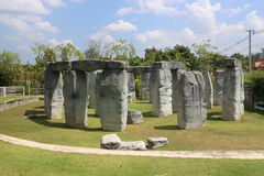 Stonehenge in Thailand. The set of Stonehenge in Thailand on some resort Stock Images