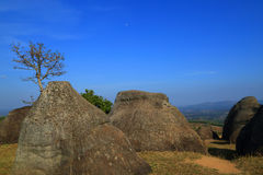 """Stonehenge  Thailand. In  stone  field  """"Mo Hin  Khaw"""" of  Chaiyaphum  province, Thailand Royalty Free Stock Photos"""