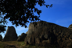 """Stonehenge  Thailand. In  stone  field  """"Mo Hin  Khaw"""" of  Chaiyaphum  province, Thailand Royalty Free Stock Photography"""