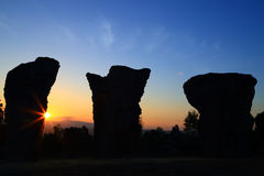 """Stonehenge  Thailand. In  stone  field  """"Mo Hin  Khaw"""" of  Chaiyaphum  province, Thailand Royalty Free Stock Images"""