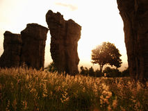 Stonehenge of Thailand in sunrise Stock Image