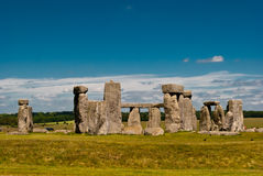 Stonehenge, UK. Stonehenge stones complex with a blue sky, UK Royalty Free Stock Image