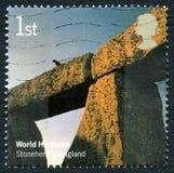 Stonehenge UK Postage Stamp Royalty Free Stock Images