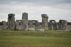 Stonehenge in the UK. Stonehenge - a prehistoric monument in Wiltshire, England,  the remains of a ring of standing stones set within earthworks Stock Images