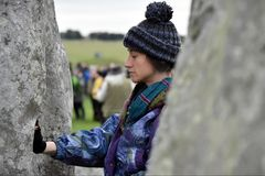 Autumn Equninox Celebrations at Stonehenge Royalty Free Stock Photo