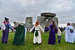 Autumn Equninox Celebrations at Stonehenge Stock Photo