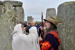 Autumn Equninox Celebrations at Stonehenge Stock Images