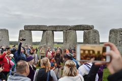 Autumn Equninox Celebrations at Stonehenge stock photo
