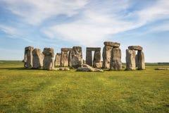 Stonehenge um monumento de pedra pr?-hist?rico antigo perto de Salisb?ria, Reino Unido, local do patrim?nio mundial do UNESCO fotografia de stock