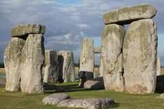 Stonehenge Under Dark Clouds Stock Photos
