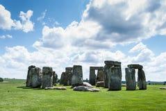 Stonehenge världsarv, Salisbury slätt, Wiltshire, UK Arkivfoto