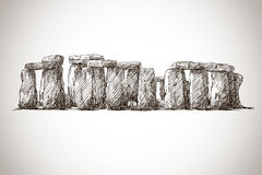 Stonehenge. Vector drawing. UK Landmark. Royalty Free Stock Photo