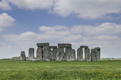 Stonehenge. View of an ancient Monument in rural England with blue cloudy sky Royalty Free Stock Photos
