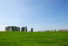 Stonehenge visitors Stock Image