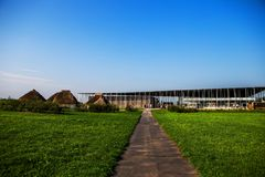 Stonehenge visitors` center Royalty Free Stock Photography