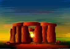 Stonehenge wereldberoemd historisch monument van Wiltshire, Engeland vector illustratie