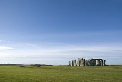 Stonehenge in Wiltshire County - England Royalty Free Stock Images